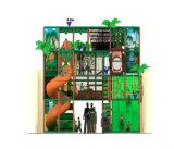 Campo de jogos interno das crianças temáticos da selva