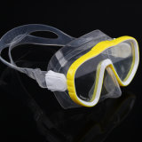 Mascherina di Frameless per immersione con bombole e la mascherina larga navigante usando una presa d'aria di tuffo di vista