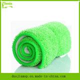 Reinigungs-Hilfsmittel Microfiber Mopp-grüne Farben-Mopp-Auflage