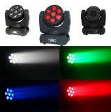 luz principal móvil de 7*12W LED