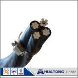 Двухшпиндельными кабель изолированный накладными расходами ABC падения обслуживания Bull AAC+ACSR