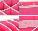 비 길쌈된 Foldable 다채로운 재사용할 수 있는 저장 상자 세트
