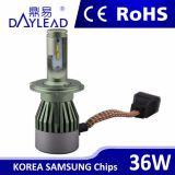 ampoules 6000k de faisceau du nécessaire Hi/Lo de phare du phare DEL H4 DEL de véhicule de 12V 36W