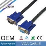 Cables video audios del precio de fábrica del cable del VGA del monitor del OEM de Sipu