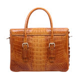 Da bolsa genuína do couro do crocodilo das mulheres saco de noite luxuoso do ombro