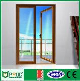 Porte en verre en aluminium de bonne qualité et porte Pnoccd0040 de tissu pour rideaux