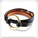 Edelstahl-Armband-Leder-Schmucksache-Leder-Schmucksachen (LB420)