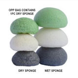 Da esponja Konjac natural do carvão vegetal da composição da venda por atacado 100% sopro cosmético da esponja