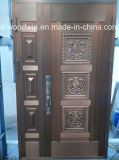 Deur van het Koper van de Deur van de Ingang van de Veiligheid van Woodwin van Foshan de Zuivere