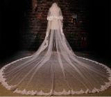 1か2層1m/1.5m*1.5m/3m/3.5mの花嫁の結婚式のベールカスタマイズしなさい