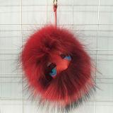 Il mostro naturale alla moda della sfera della pelliccia del Raccoon del prodotto di nuovo anno fa la pelliccia POM Keychain dei giocattoli della pelliccia