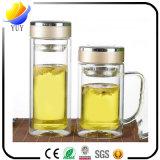 Alta qualidade e copo de vidro bonito com estilos e cores diferentes para presentes relativos à promoção