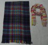 Младшей шарф сплетенный шотландкой Blanket с металлическим