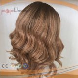 Lange menschliche brasilianische Haar-Silk oberste blonde Farben-jüdische reine Perücken