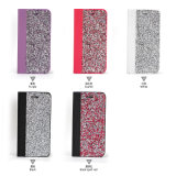 Cassa di cuoio del telefono delle cellule dell'unità di elaborazione di disegno di pietra variopinto brillante alla moda del raccoglitore per il iPhone 7