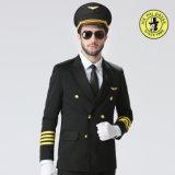 Uniforme piloto em branco Anti-Encolhido costume da camisa 100%Cotton