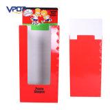 赤い色刷のボール紙新聞ダンプの大箱の表示