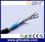 4X0.45mmcu 0.9 Mmpe O.D.: 6.1mm 64mmalmg im Freien SFTP CAT6 Kabel