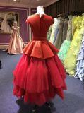 Vestido de noite vermelho para Wedding com Tulle estratificado