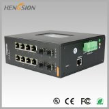 Porta 8 elétrica e interruptor industrial controlado Fx do Ethernet 4