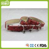 Haustier-Muffe PU-Hundehalskette Hundehalsring PU-Colla
