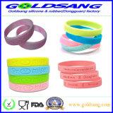 Qualitäts-förderndes kundenspezifisches Firmenzeichen-Gummihandband-Silikon-Armband