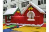 膨脹可能なクリスマスの家、クリスマスのサンタの膨脹可能なテント