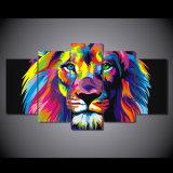 HD imprimió la pintura colorida del león en la lona Mc-042 del cuadro del cartel de la impresión de la decoración del sitio de la lona