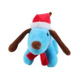 رخيصة صغيرة زخرفة عيد ميلاد المسيح قطيفة كلب