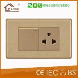 Heller Wand-Schalter mit goldenem Drucken, 10A/250V