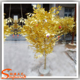 Arbre de banian artificiel de Ficus d'or de branchements secs directs d'usine