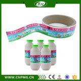 Escrituras de la etiqueta coloridas de BOPP para las botellas de la bebida bajo orden modificada para requisitos particulares
