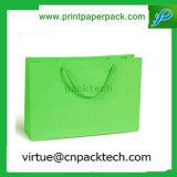Мешок Simpleness зеленый Kraft бумажного подарка бумажный с ручкой