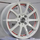 A prata/preto Hyper/cromo rodam bordas da roda da liga do carro F101031