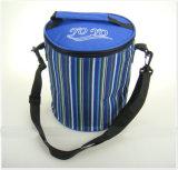 (KL226)ビール6缶容量のクーラーの昼食袋のための円柱クーラー袋