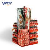 La insignia imprimió el cartón de la visualización de la paleta de la cartulina para la Coca-Cola