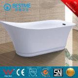 Nueva alta calidad del diseño de acrílico, independiente bañera simple (BT-Y6022)