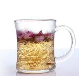 250ml de alta calidad, helada y creativa taza de vidrio de agua, taza de té con mango