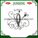 El panel ornamental de la flor del hierro labrado para el desfile del hierro de la puerta del hierro del pasamano del hierro