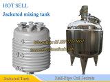 tanque de mistura do aço 2000L inoxidável com os revestimentos da bobina da Metade-Tubulação