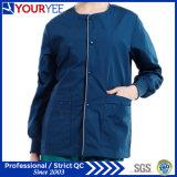 El frente comprable del broche de presión del calentamiento del hospital friega la capa de la chaqueta (YHS115)