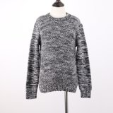 Tapa del suéter de los muchachos calientes del estilo básico del invierno en calibrador pesado con las fundas largas