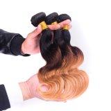 上9Aのインドのバージンの毛のOmbreの毛の拡張1b/4/27 Ombre人間の毛髪は3つのPCSのインドのバージンの毛のまっすぐな束の織り方を束ねる