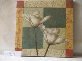 A flor do Magnolia decorou pinturas da lona