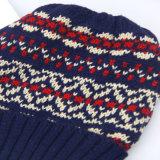 Frauen strickten Hut, Winterbeanie-Hüte, Acryljacquardwebstuhl-Webart gestrickter Hut