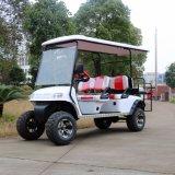 セリウムの証明6のSeaterの後部フリップシートが付いている電気ゴルフカート