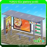 De Schuilplaatsen van het Busstation van het aluminium Met de Reclame van de Tweezijdige Lichte Bushalte van het Roestvrij staal van de Doos