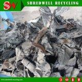큰 수용량을%s 가진 오래된 타이어 금속 조각 또는 낭비 나무를 위한 양축 슈레더