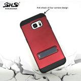 Armatura di Shs che placca la cassa ibrida del telefono di Kickstand per il iPhone 7