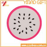 주문 과일 모양 실리콘 차잔 매트 또는 실리콘 귀중품 상자 컵 매트